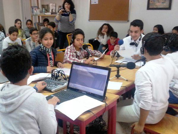 A Marrakech, webradio au collège Majorelle