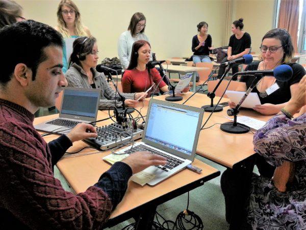 A l'université de Montpellier, cours webradio en Master FLE