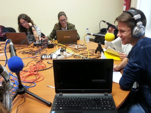 Formation webradio au lycée Villanueva-Madrid