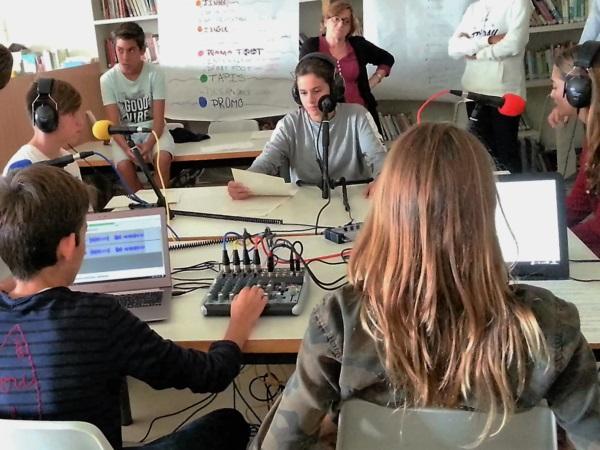 En Catalogne, webradio au Collège Français de Reus