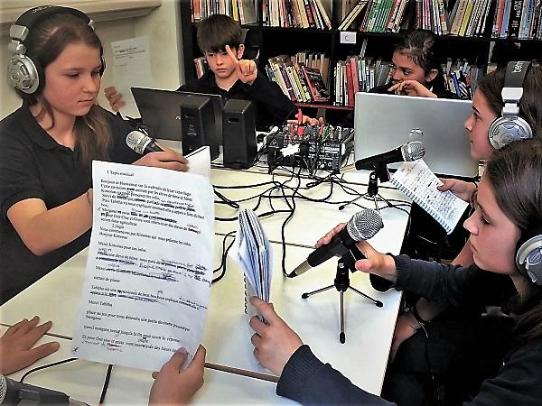 Studio Webradio scolaire Italie