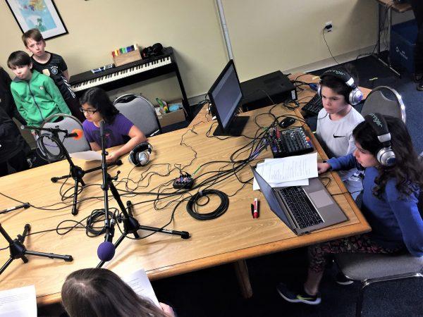Studio radio scolaire Etats-Unis