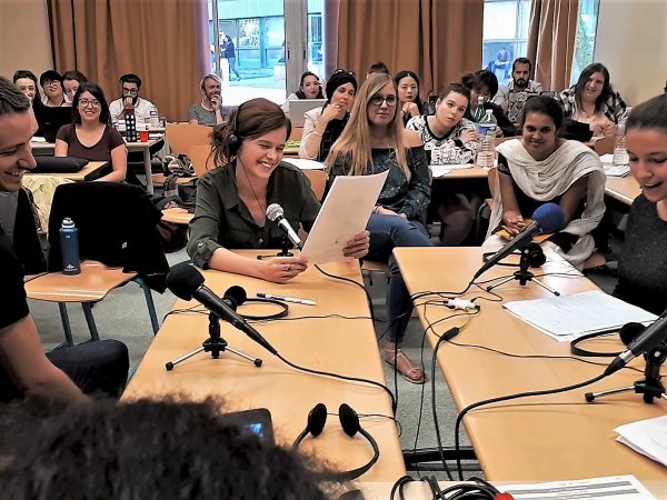 Université de Montpellier, cours de webradio FLE en Master