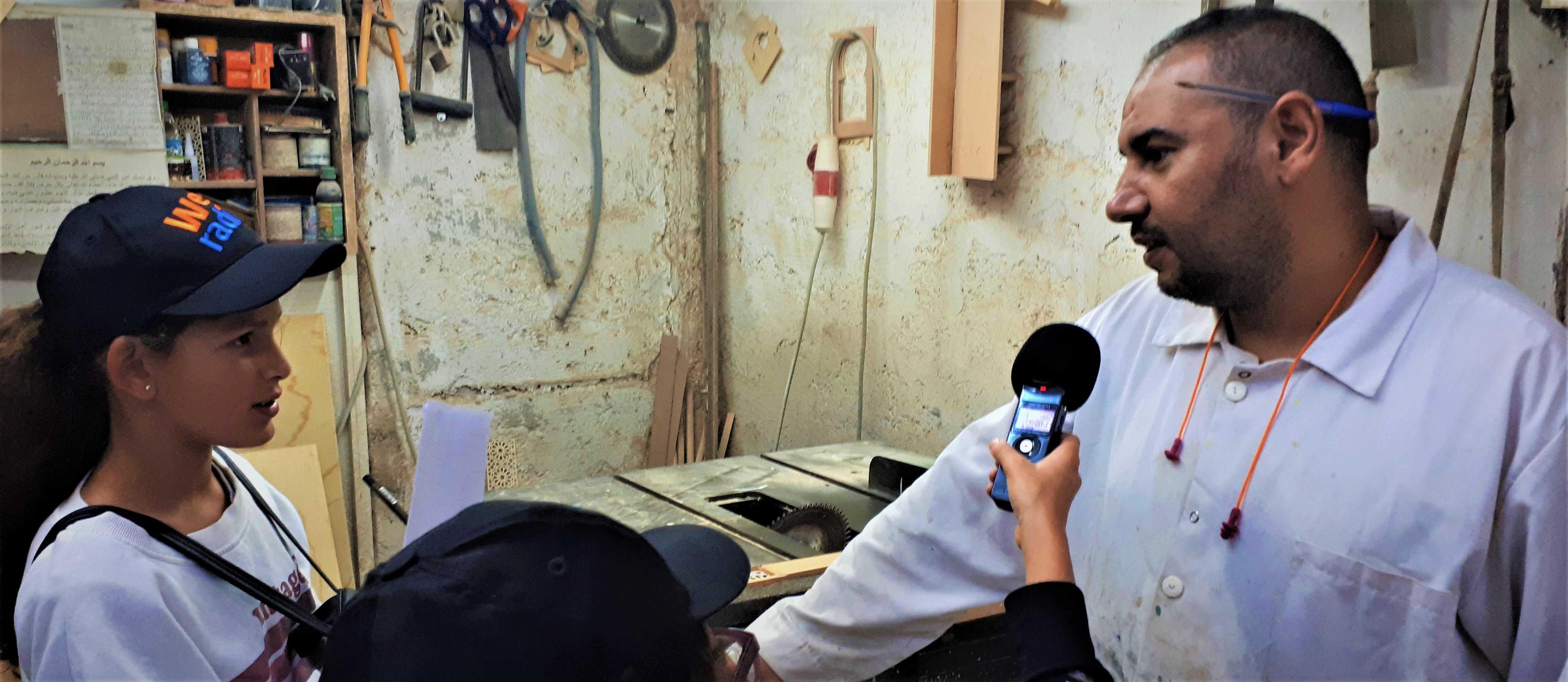 A Rabat, interview lors des 1ères Rencontres webradio du réseau Osui Maroc