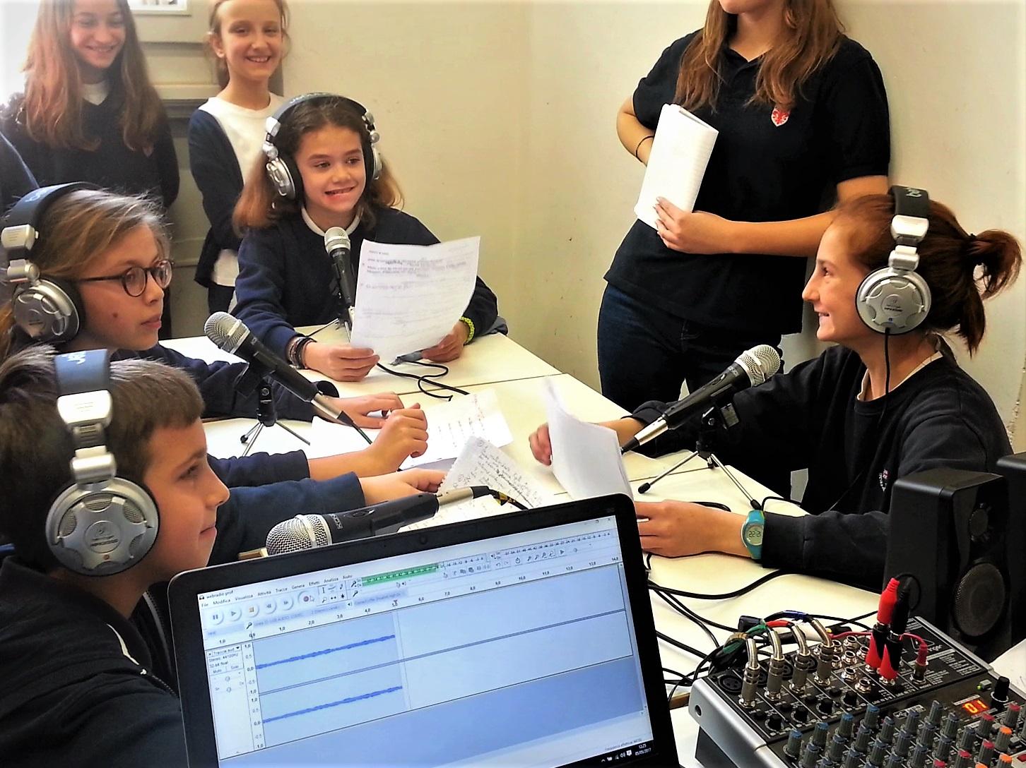 Club webradio en collège, à Florence