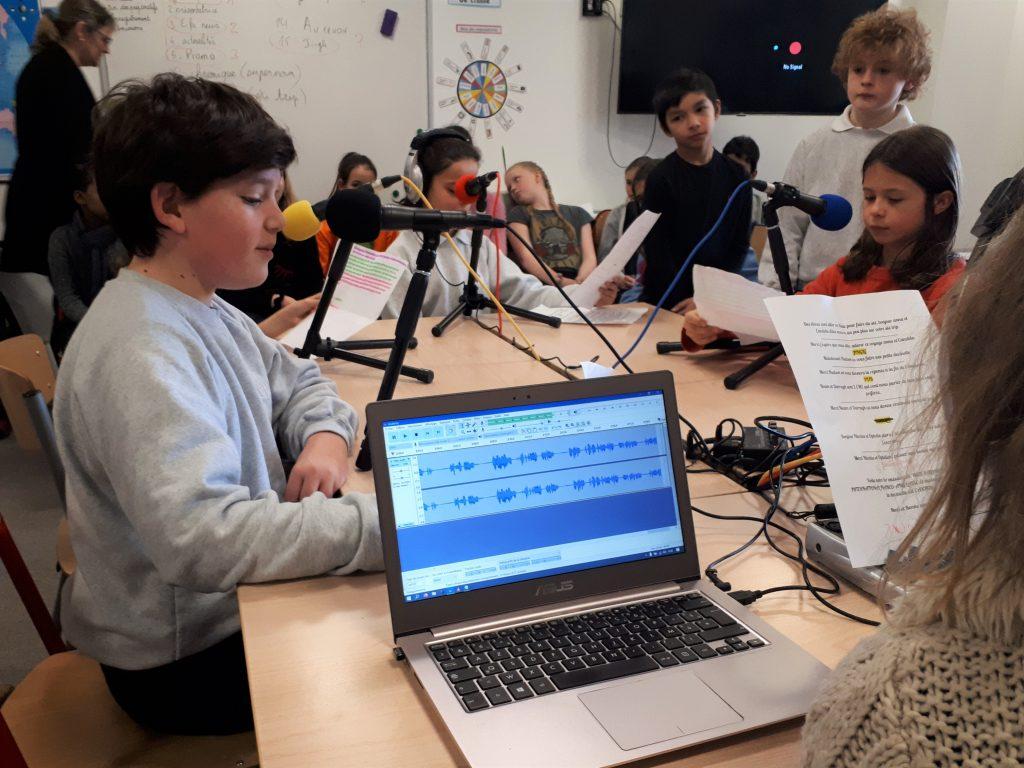 A Londres, webradio en français (FLE) et anglais, en CM2 et 6ème